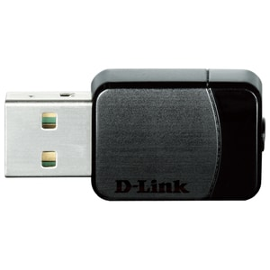 Adaptor USB Wireless D-LINK DWA-171, Dual-Band 150 + 433 Mbps, negru