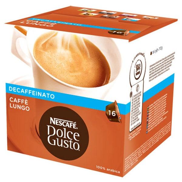 Capsule cafea NESCAFE Dolce Gusto Caffe Lungo Decaffeinato, 16 capsule, 210g
