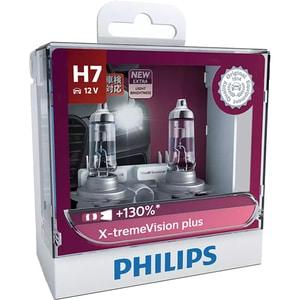Set becuri auto PHILIPS Xtreme Vision+, 130%, H7, 3400K, 55W, 2 buc