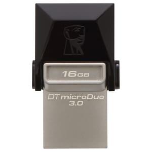 Memorie USB KINGSTON DataTraveler microDuo, USB 3.0-microUSB, 16GB, 70MBs/15MBs, negru