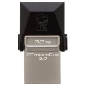 Memorie USB KINGSTON DataTraveler microDuo, USB 3.0-microUSB, 32GB, 70MBs/15MBs, negru