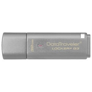 Memorie USB KINGSTON DataTraveler Locker+ G3 DTLPG3/32GB, 32GB, USB 3.0, argintiu