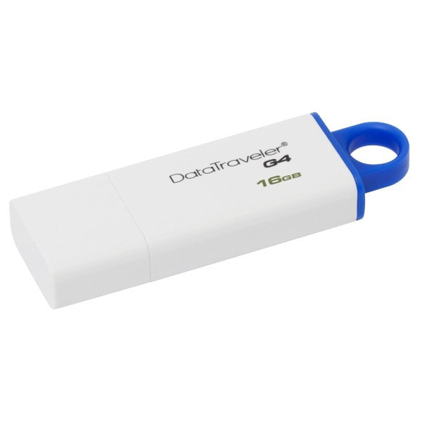 Memorie portabila KINGSTON DataTraveler Generation 4 DTIG4/16GB, 16GB, alb