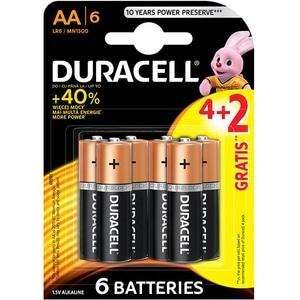 Baterii alcaline Basic DURACELL AA, 4+2 bucati