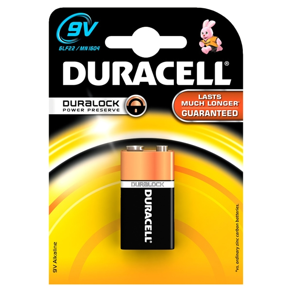 Baterie DURACELL 9V Basic Duralock