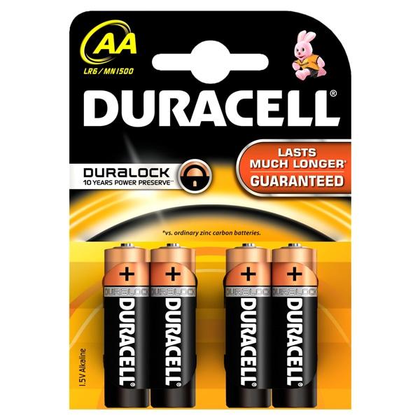 Baterie DURACELL AAK4 Basic Duralock, 4 bucati