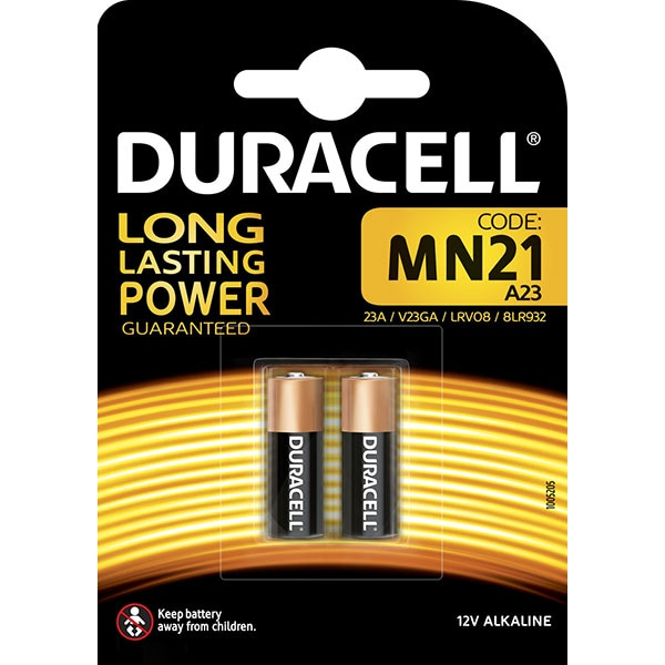 Baterie alcalina DURACELL MN21, 2 Buc, 12V