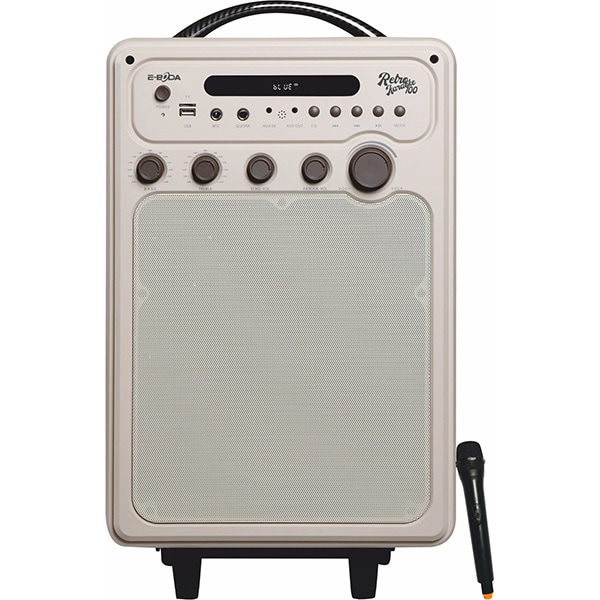 Sistem audio E-BODA Retro Karaoke 100, 60W, Bluetooth, USB, Radio, crem