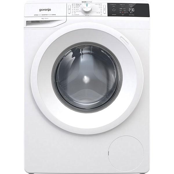 Masina de spalat rufe frontala GORENJE WEI72S3, WaveActive, 7kg, 1200rpm, Clasa A+++, alb