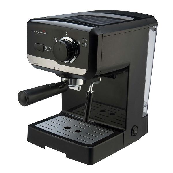 Espressor manual MYRIA MY4119, 1.5l, 1050W, 15 bar, negru