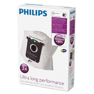 Set saci aspirator PHILIPS Ultra Long Performance FC8027, 3 buc