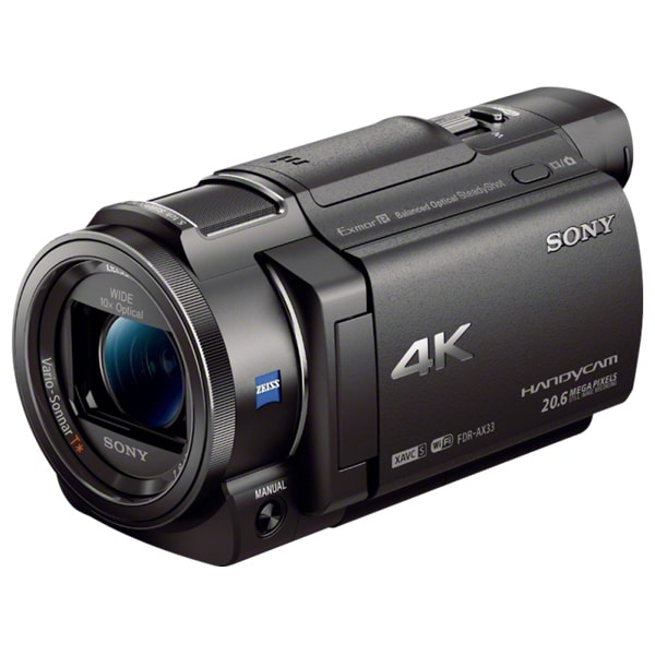 Camera video SONY HandyCam FDR-AX33, 4K, Wi-Fi, negru