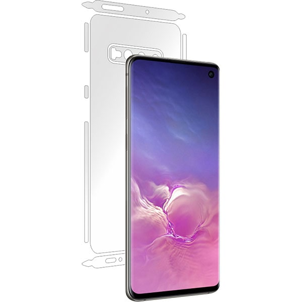 Folie protectie pentru Samsung Galaxy S10, SMART PROTECTION, spate si laterale, polimer, transparent