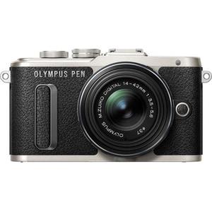 Aparat foto Mirrorless OLYMPUS E-PL8 Pancake, 16.1 MP, Wi-Fi, negru + Obiectiv 14-42mm
