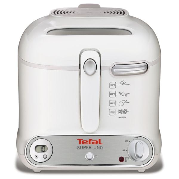 Friteuza TEFAL Super Uno FR3021, 1.4kg, 2.2l, 1800W, alb-argintiu