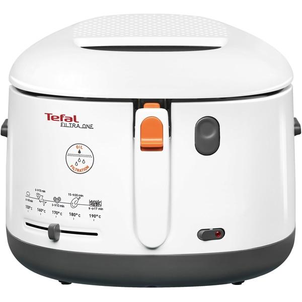 Friteuza TEFAL One Filtra FF1621, 1.2kg, 2.1l, 1900W, alb-gri inchis