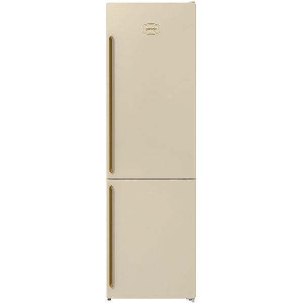Combina frigorifica GORENJE NRK6202CLI, No Frost Plus, 331 l, H 200 cm, Clasa E, crem