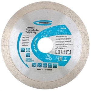 Disc debitare diamantat GROSS 73038, 125 x 22.2 mm, 1A1R