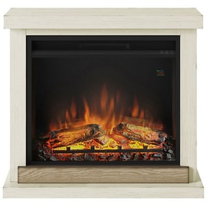 Semineu electric TAGU Hagen Antique Ivory, 1500W, Focar 3D, Telecomanda, Crem Antichizat