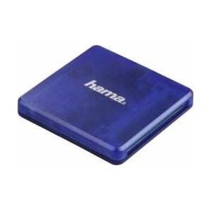 Cititor de carduri HAMA 124131, USB 2.0, albastru