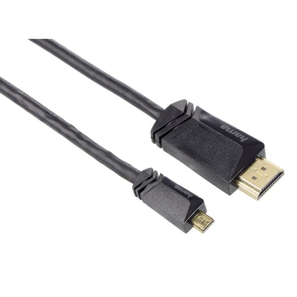 Cablu micro HDMI HAMA 122120, 1.5m, negru