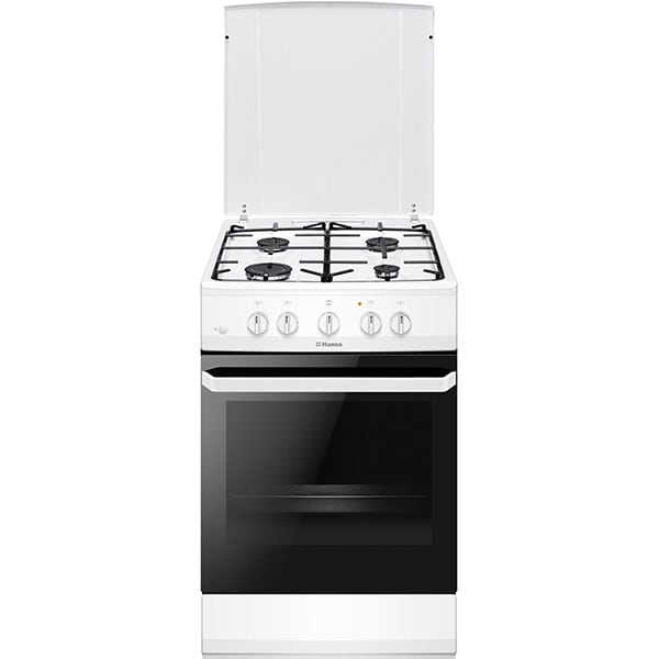 Aragaz HANSA FCGW510009, 4 arzatoare, Gaz, L 50 cm, alb