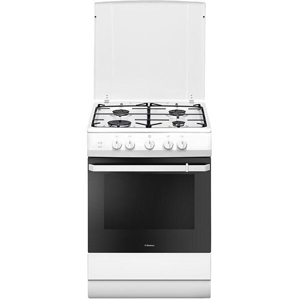 Aragaz HANSA FCGW61009, 4 arzatoare, Gaz, L 60 cm, alb