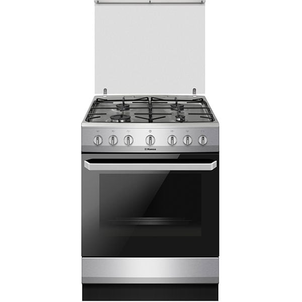 Aragaz HANSA FCMX681009, 4 arzatoare, Mixt, L 60 cm, inox