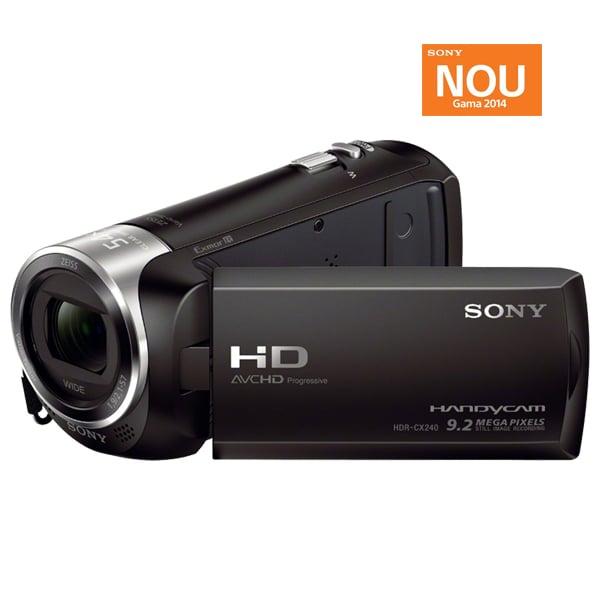 Camera video SONY Handycam HDR-CX240E, Full HD, negru