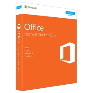 Microsoft Office Home and Student 2016, Engleza EuroZone, Windows PC, Medialess P2