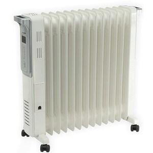 Calorifer electric HOME FKO 13 LCD, 13 elementi, 3 trepte putere, 2500W, alb