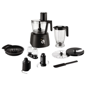 Robot de bucatarie PHILIPS Avance Collection HR7776/90, vas 3.4l, blender 2.2l, 1300W, 12 trepte viteza, negru