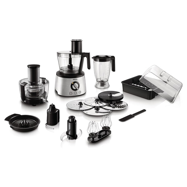 Robot de bucatarie PHILIPS Avance Collection HR7778/00, vas 3.4l, blender 2.2l, 1300W, 12 trepte viteza, argintiu-negru