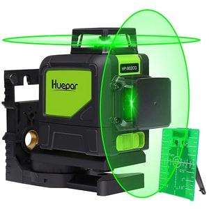 Nivela cu laser HUEPAR 902CG, raza 35m, negru-verde