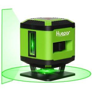 Nivela cu laser HUEPAR FL360GA, raza 35m, negru-verde
