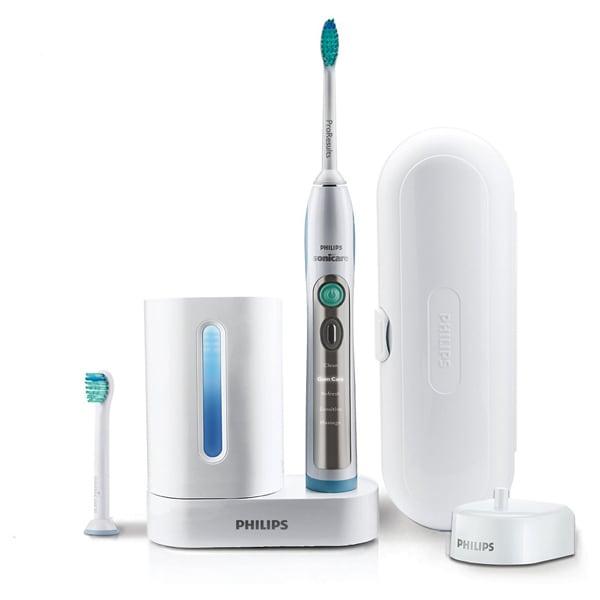 Periuta de dinti electrica PHILIPS FlexCare+ HX6972/10, 5 programe, 31000 miscari/min, 2 capete, alb-albastru