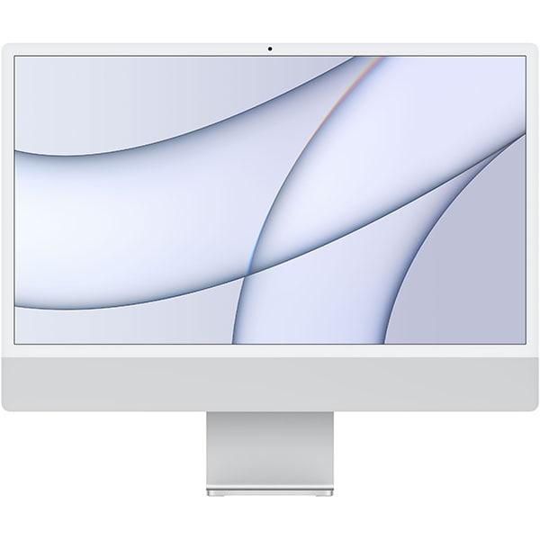 """Sistem PC All in One APPLE iMac (2021) mgtf3ze/a, 24"""" Retina 4.5K, Apple M1, 8GB, SSD 256GB, 7-core GPU, macOS Big Sur, Silver, Tastatura layout INT"""