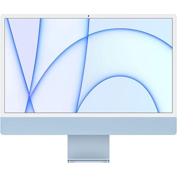"""Sistem PC All in One APPLE iMac (2021) mgpl3ze/a, 24"""" Retina 4.5K, Apple M1, 8GB, SSD 512GB, 8-core GPU, macOS Big Sur, Blue, Tastatura layout INT"""