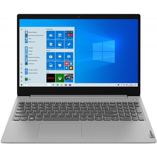 "Laptop LENOVO IdeaPad 3 15IML05, Intel Pentium Gold 6405U 2.4GHz, 15.6"" Full HD, 4GB, SSD 256GB, Intel UHD Graphics, Windows 10 Home S, gri"