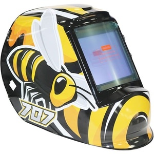 Masca de sudura cu cristale lichide INTENSIV BUMBLE-BEE, 4 senzori, vizor 100x93mm, incarcare solara + baterie