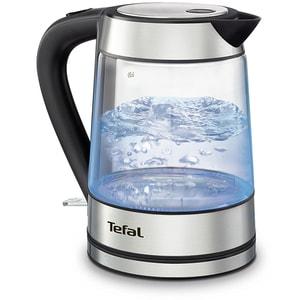 Fierbator apa TEFAL Glass KI730D30, 1.7l, 2000W, argintiu-negru