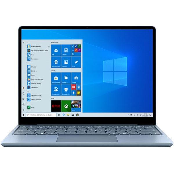 "Laptop MICROSOFT Surface Go, Intel Core i5-1035G1 pana la 3.6GHz, 12.4"" Touch, 8GB, SSD 128GB, Intel UHD Graphics, Windows 10 S, albastru deschis"