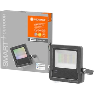 Proiector LED Smart LEDVANCE FLOOD, 30W, 2190 lumeni, RGB, gri inchis
