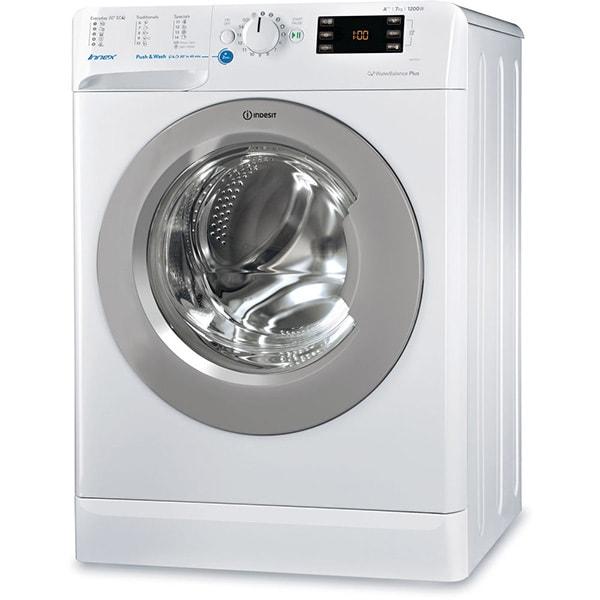 Masina de spalat rufe frontala INDESIT BWE 71253X WSSS EU, Push & Wash, 7Kg, 1200rpm, Clasa A+++, alb