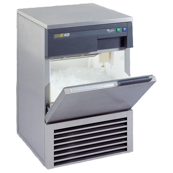 Masina profesionala de facut cuburi gheata WHIRLPOOL AGB 024, 40Kg/24h, argintiu