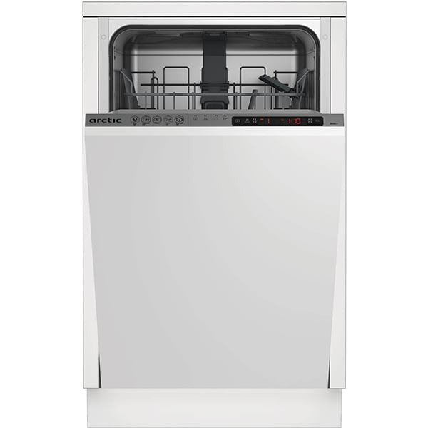 Masina de spalat vase incorporabila ARCTIC BI45A++, 10 seturi, 5 programe, 45 cm, Clasa A++, argintiu