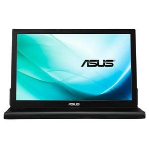 "Monitor portabil LED IPS ASUS  MB169B+, 15.6"", Full HD, 60Hz, argintiu-negru"