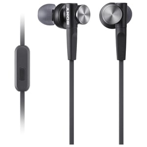 Casti SONY MDR-XB50APB, Cu Fir, In-Ear, Microfon, negru
