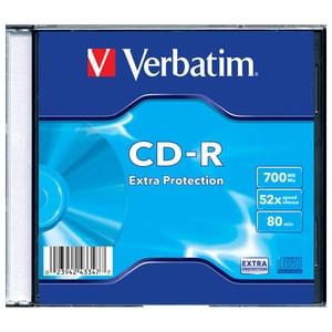 CD-R VERBATIM 43347, 52x, 700MB, 1buc - Slim Case