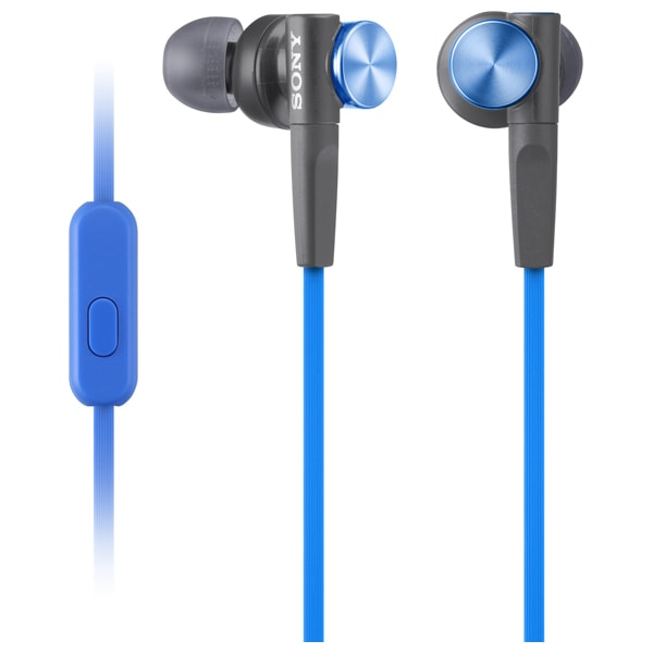 Casti SONY MDR-XB50APL, Cu Fir, In-Ear, Microfon, albastru